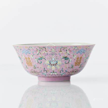 A Chinese famille rose 'marriage' bowl