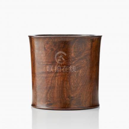 A wood brushpot