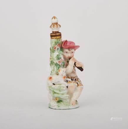 Chelsea Young Shepherd Scent Bottle, c.1760-65