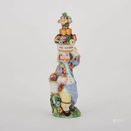 Chelsea Flower Seller Scent Bottle, c.1765