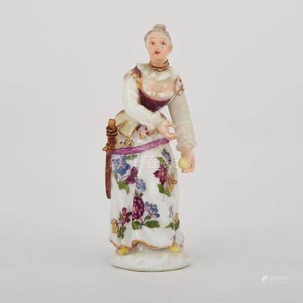 Meissen Figural Scent Bottle, mid-18th century