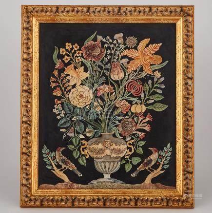 Italian Baroque Scagliola Panel, 18th century