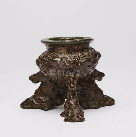 North Italian Bronze Incense Burner, Attributed to the Workshop of Giuseppe de Levis, late 16th C