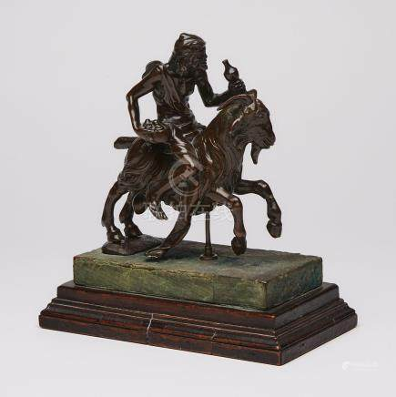 North Italian Bronze Group of an Old Man Riding a Goat, Attr. to the Workshop of Ferdinando Tacca