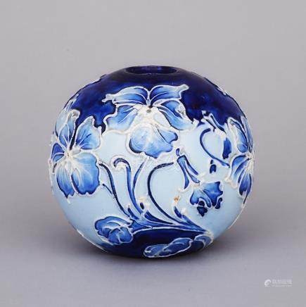 Moorcroft Florian Violets Vase, c.1898-1905, height 3.5\ — 9 cm.