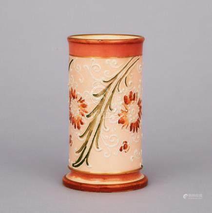 Macintyre Moorcroft Gesso Faience Vase, c.1900, height 5\ — 12.5 cm.