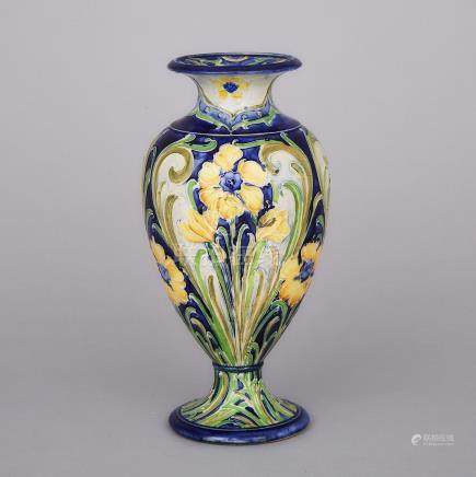Macintyre Moorcroft Florian Ware Vase, c.1900, height 9.3\ — 23.7 cm.