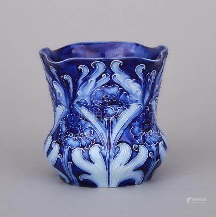 Macintyre Moorcroft Florian Poppy Small Vase, c.1900, height 3.5\ — 9 cm.