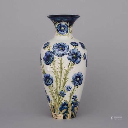 Macintyre Moorcroft Florian Poppy Vase, c.1900, height 11.8\ — 30 cm.