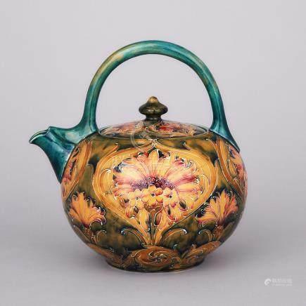 Macintyre Moorcroft Cornflower Teapot, c.1910-12, height 8\ — 20 cm.