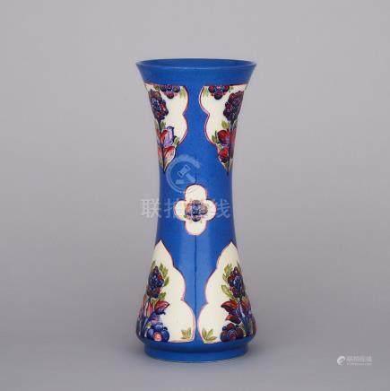 Moorcroft Floral Panels Vase, c.1914-16, height 12\ — 30.6 cm.