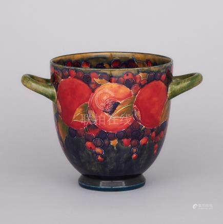 Moorcroft Two-Handled Pomegranate Vase, c.1916-18, height 7.3\ — 18.5 cm.