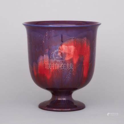 Moorcroft Flambé Fish Vase, c.1920, height 10.4 in — 26.5 cm