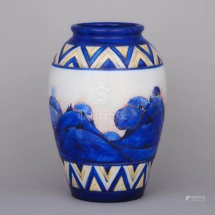 Moorcroft Dawn Vase, c.1926, height 13.2\ — 33.5 cm.
