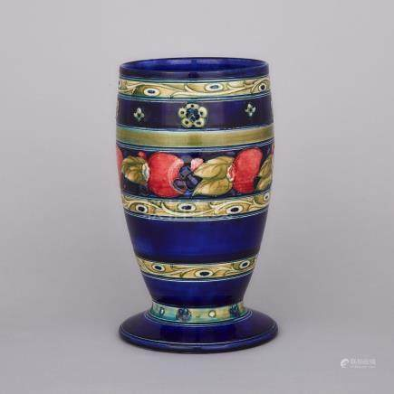 Moorcroft Banded Pomegranate Vase, c.1925, height 9\ — 23.2 cm.