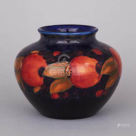 Moorcroft Pomegranate Vase, c.1925, height 6.5\ — 16.5 cm.