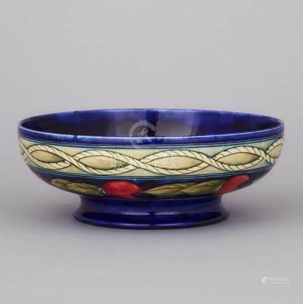 Moorcroft Banded Pomegranate Bowl, c.1925, height 2.8\ — 7.1 cm., diameter 8\ — 20.2 cm.