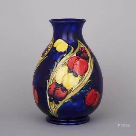 Moorcroft Wisteria Panels Vase, c.1925-30, height 9.3\ — 23.5 cm.
