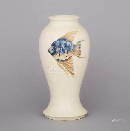 Moorcroft Fish Vase, 1930s, height 12.2\ — 31 cm.