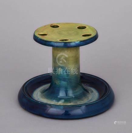 Moorcroft Pipe Stand, c.1930, diameter 7\ — 17.9 cm.