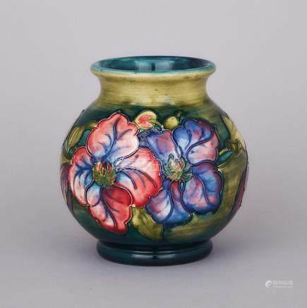Moorcroft Clematis Vase, c.1960, height 6\ — 15 cm.