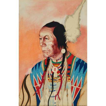 William Langdon Kihn (1898-1957), CHIEF YELLOW KIDNEY, BLACKFOOT INDIAN OF BROWNING, MONTANA 1926