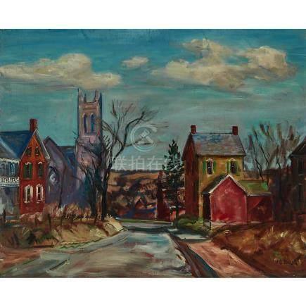 Walter Emerson Baum (1884-1956), STREET SCENE