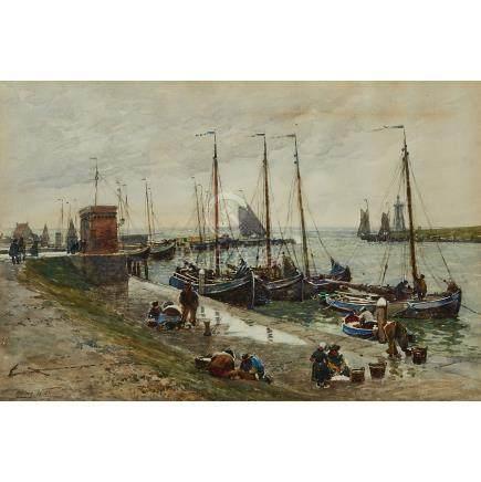 Robert Weir Allan (1852-1942), THE SEA GROWS STORMY