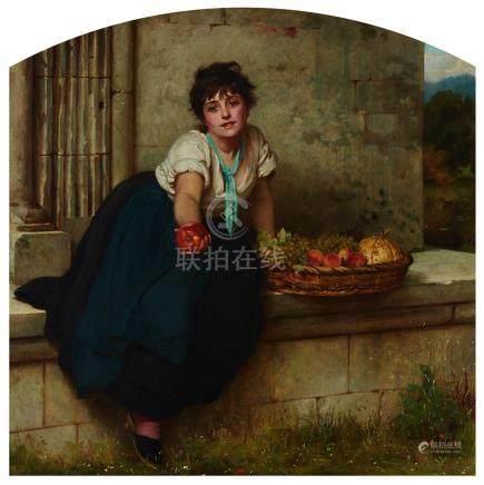 Philip Hermogenes Calderon (1833-1898), THE FRUIT GIRL, 1877