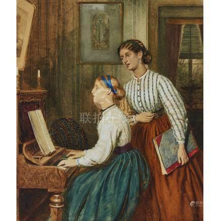 William Lucas (1840-1895), THE DUET, 1866