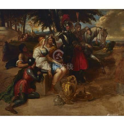 Daniel Maclise (1806-1870), YOUNG LOVERS HELD CAPTIVE, CIRCA 1840