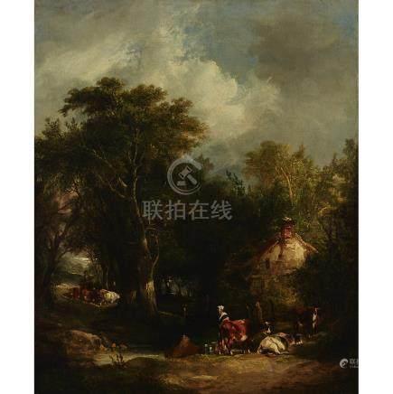 William Shayer the Elder (1787-1879), MILKING TIME