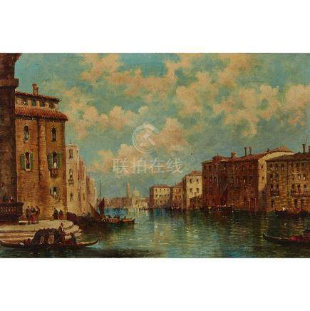 William Meadows (1825-1901), LORD BYRON'S PALACE; CANAL RIALTO, VENICE