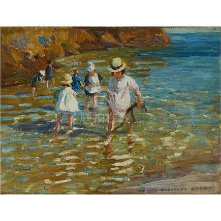 Dorothea Sharp (1874-1955), CHILDREN ON A SHORELINE
