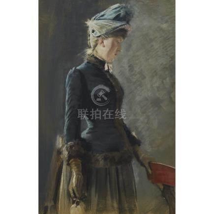 Robert Thegerström (1857-1919), DAMPORTRATT, PARIS