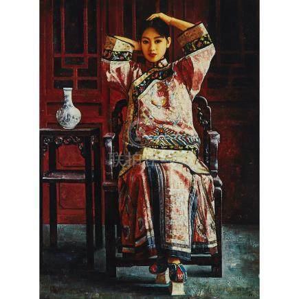 Di Li Feng (also KNOWN AS Di LiFong) (1958- ), SEATED GIRL, 1996