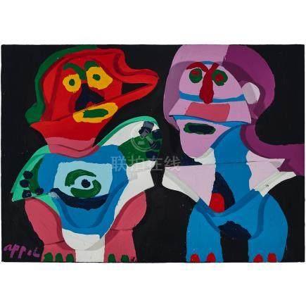Karel Appel (1921-2006), COUPLE IN WOOD