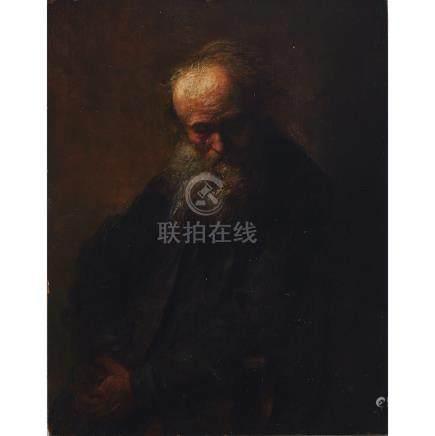 """Follower of Rembrandt van Rijn (1606-1659), """"PHILOSOPH"""" 1897"""