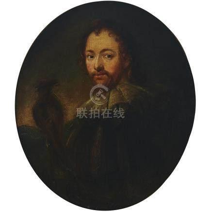 Follower of Sir Anthony Van Dyck (1599-1641), PORTRAIT OF A GENTLEMAN HALF-LENGTH..