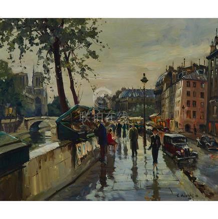 Constantin Kluge (1912-2003), BOOKSTALLS, NOTRE DAME