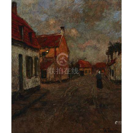 Frits Thaulow (1847–1906), STREET IN CHRISTIANIA