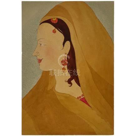MUHAMMAD ABDUR RAHMAN CHUGHTAI (1897-1975), YOUNG GIRL