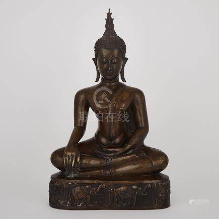 A Bronze Seated Buddha, Ayutthaya Style, Thailand, 18th/19th Century