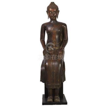 A Massive Bronze Seated Buddha, Thailand, Circa 1760