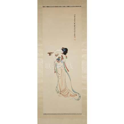 Zhang Daqian 張大千 (1899-1983), Dunhuang Mogao Caves Figure, 張大千 (1899-1983)