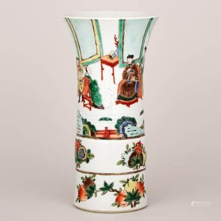A Famille Verte 'Flaring' Vase, 19th Century