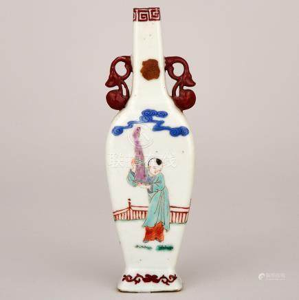 A Small Famille Rose Vase, Yongzheng Mark, 19th Century