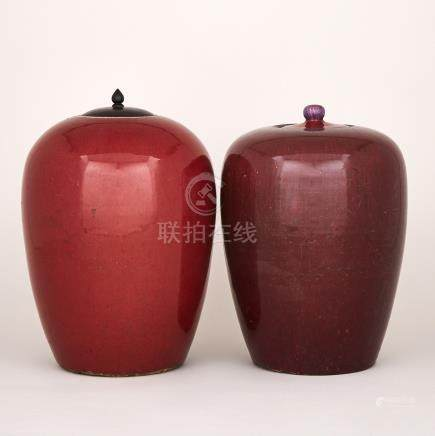 Two Red Glazed Jars, 18th/19th Century