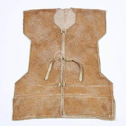A Bamboo Threaded Man's Vest, Late Qing Dynasty