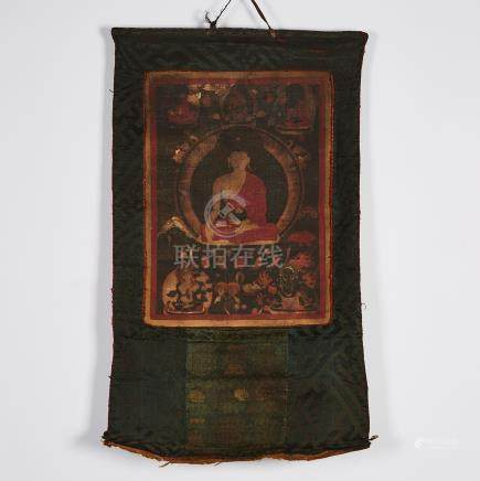 A Thangka of Shakyamuni, Tibet, 18th Century